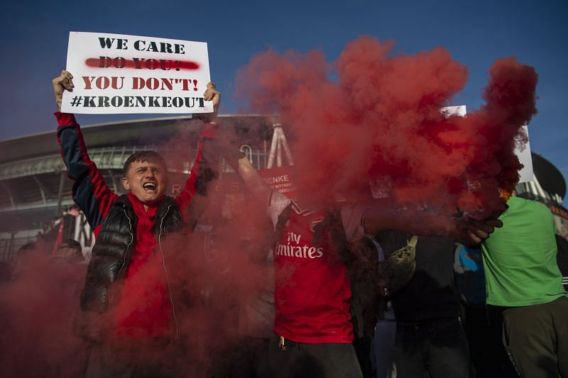 Arsenal fans have called for Kroenke to sell the club