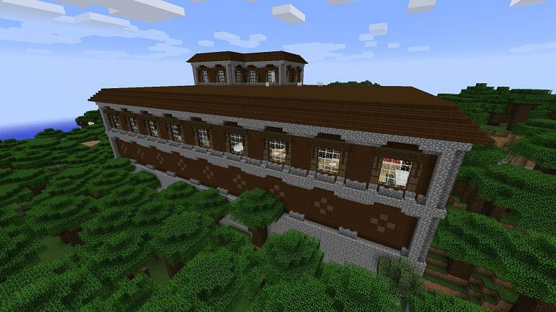 Woodland mansion Minecraft (Image via minecraftseed)