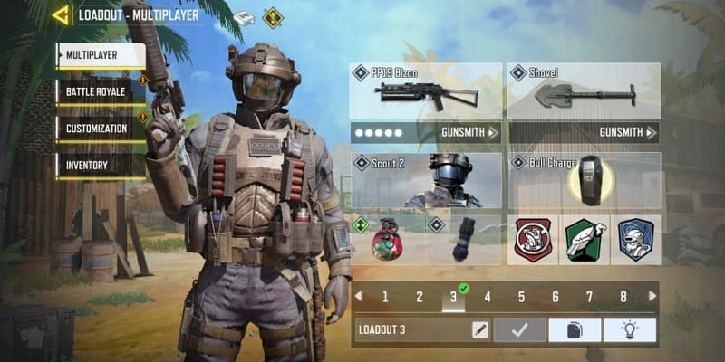 Weapon loadout in COD Mobile (Image via Activision)