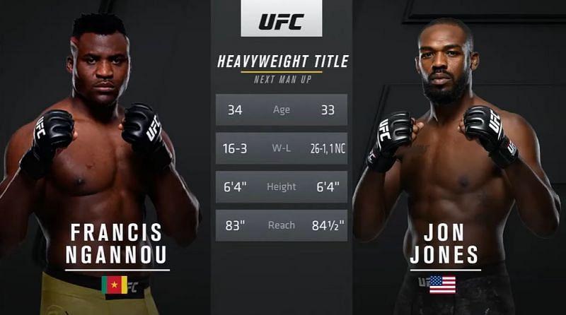 Comparison between Jon Jones & Francis Ngannou