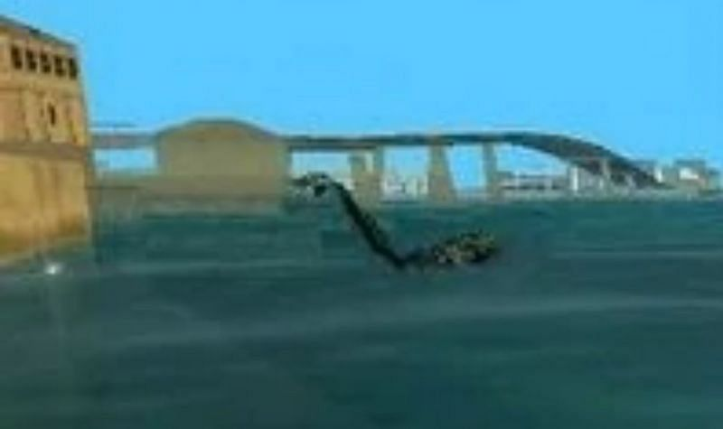 The Sea Monster is a fairly well-known myth in a similar vein to the Loch Ness monster (Image via GTA Myths Wiki)