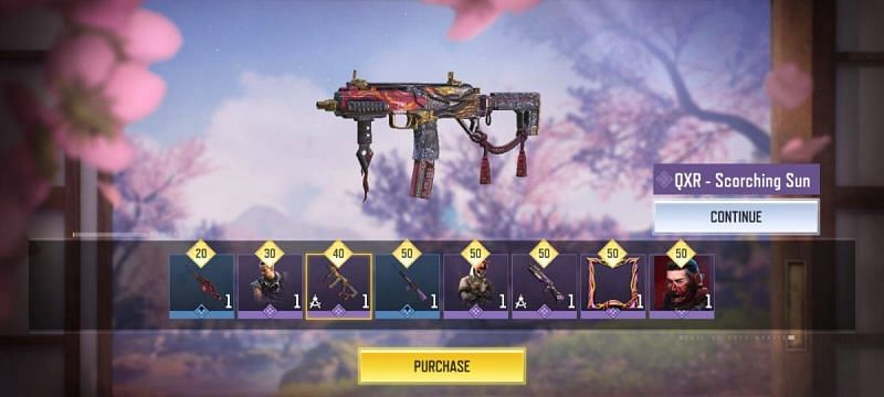 The QXR - Scorching Sun Epic Weapon (Image via Activision)