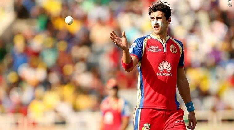 Mitchell Starc provided late breakthroughs for RCB| Source:BCCI