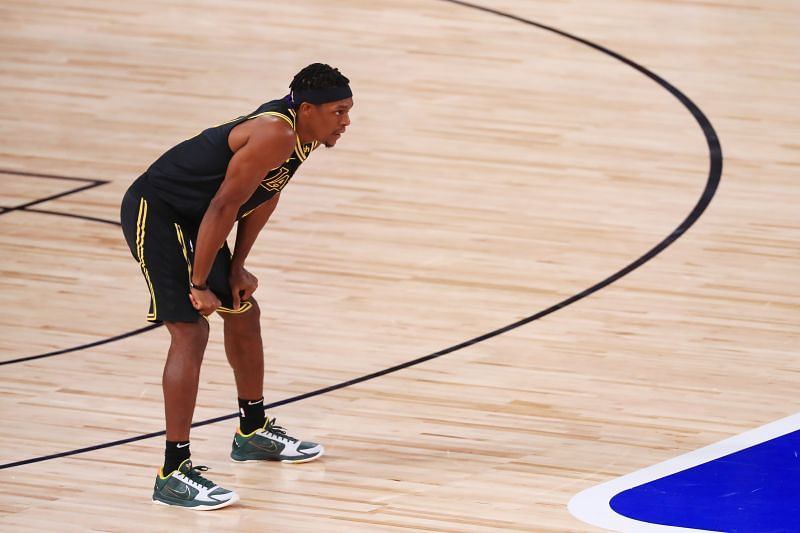 Rajon Rondo with the LA Lakers in Game 5 of the 2020 NBA Finals