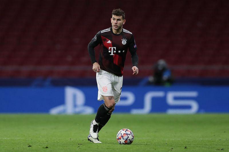Lucas Hernandez in action for Bayern Munich