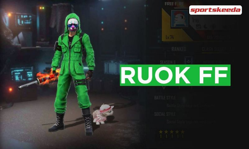 RUOK FF is one of the most popular Free Fire content creators