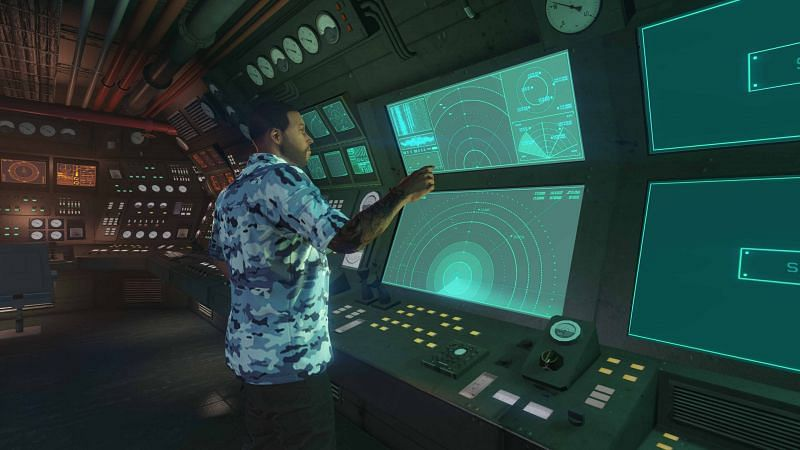 The Kosatka Submarine has all the necessary bells and whistles for a modern hi-tech base of operations (Image via Rockstar Games)
