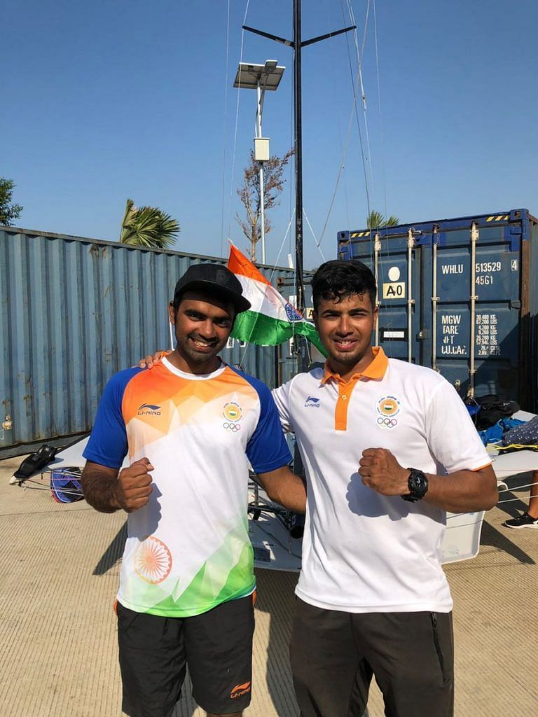 The pair of Ganapathy Chengappa and Varun Thakkar sealed the third Tokyo Olympics quota for India in sailing (Source: YAI/Twitter)