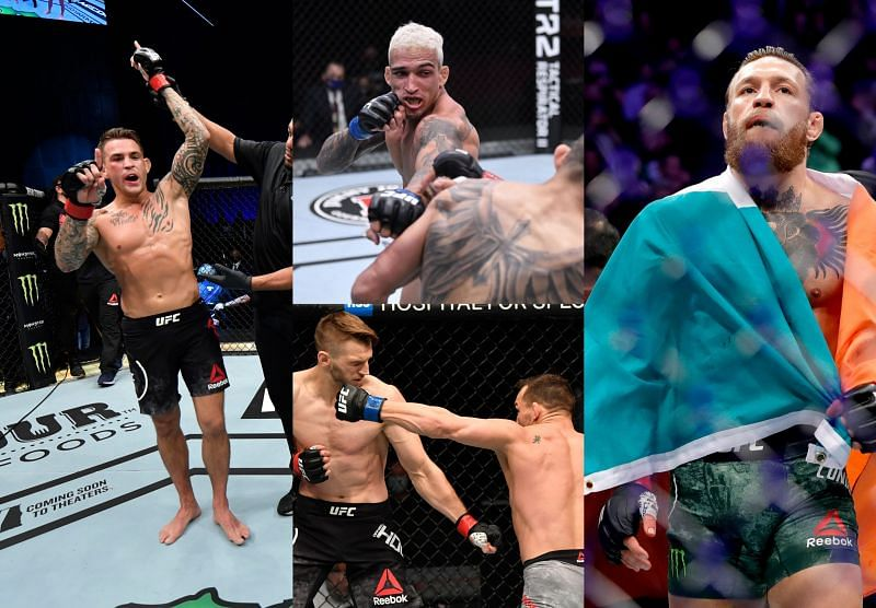 Dustin Poirier, Charles Oliveira, Michael Chandler, Conor McGregor