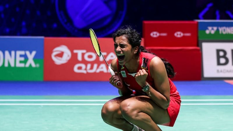PV Sindhu in action at the All England Open 2021
