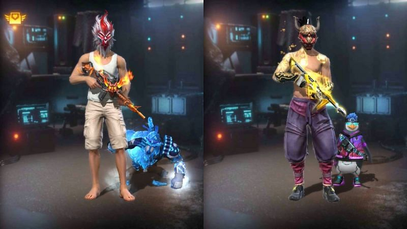 Ajjubhai and Heroshima YT in Garena Free Fire