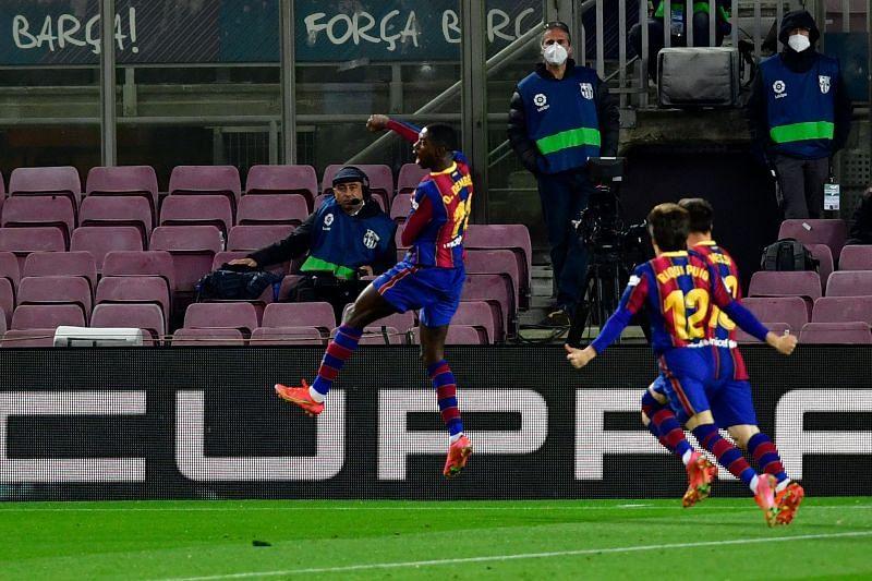 Dembele saves Barca