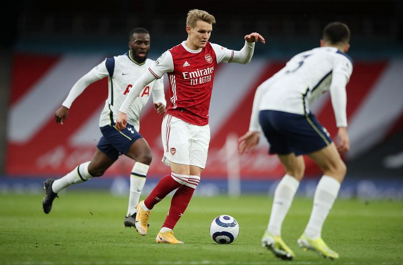 Odegaard has been inspirational for Arsenal. (Photo by Nick Potts - Pool/Getty Images)