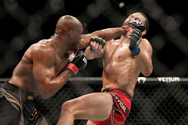 Kamaru Usman knocks out Jorge Masvidal at UFC 261.