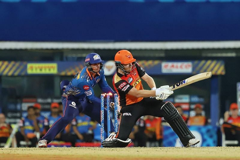 Jonny Bairstow was on his way to his second half-century in IPL 2021 (Image courtesy: IPLT20.com)
