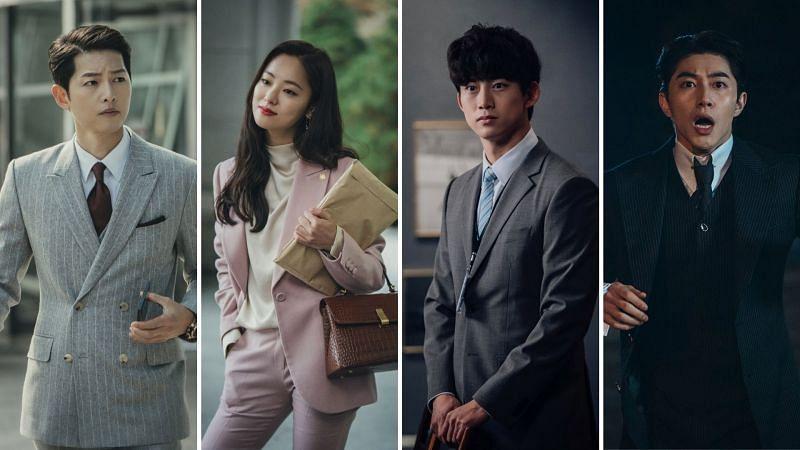Song Joong Ki, Jeon Yeo Bin, Ok Taec Yeon, and Kwak Dong Yeon in Vincenzo (Image via tvN/Netflix)