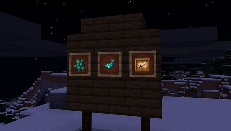 Glowing item frame (Image via Minecraft)