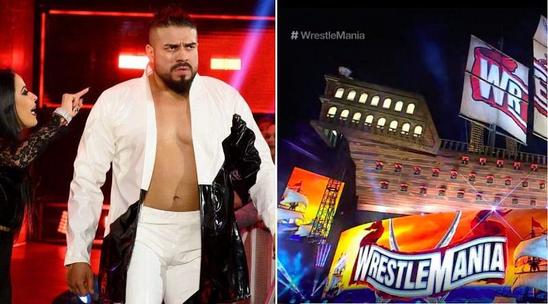 Andrade; WrestleMania 37 setup