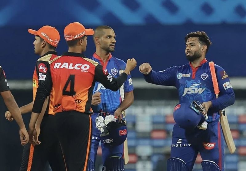 Shikhar Dhawan and Rishabh Pant opened for Delhi Capitals in the Super Over (Photo: BCCI)
