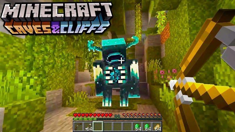 Caves and cliffs Minecraft update warden (Image via academiahagitv)