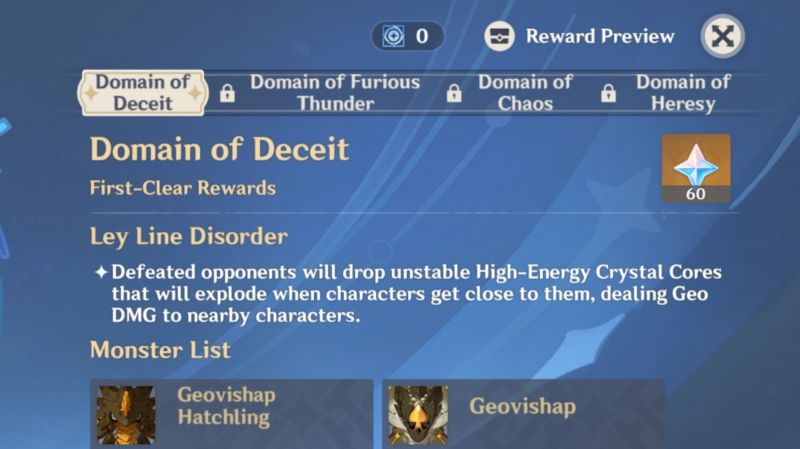 Domain of Deceit is the first Twisted Realm challenge in the Energy Amplifier event.