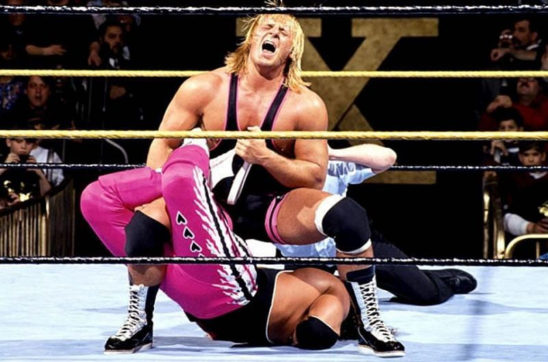Owen Hart and Bret Hart in their WrestleMania classic (Credit: WWE)