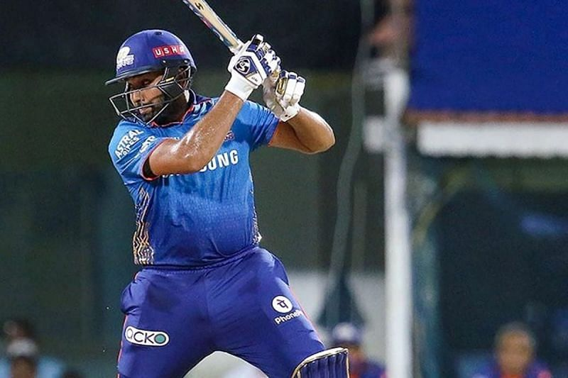 The MI skipper lost his cool in the first over