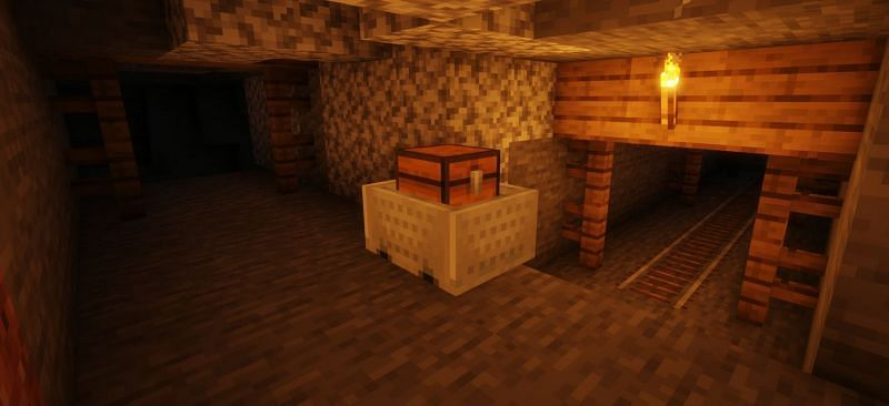 Mineshafts contain tons of loot and goodies that even a late-game Minecraft player will be interested in collecting (Image via Minecraft)