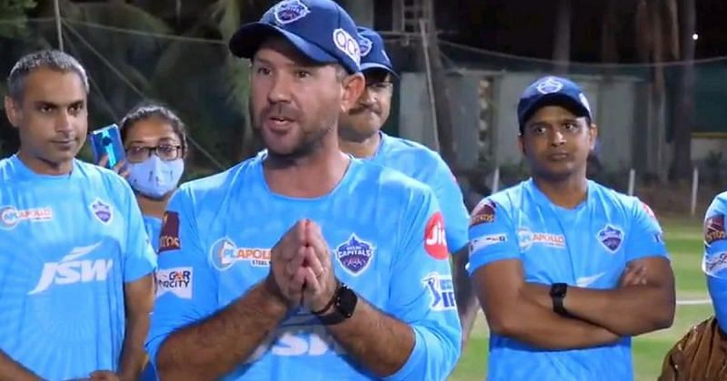 Ricky Ponting. Picture Courtesy: DelhiCapitals Twitter.