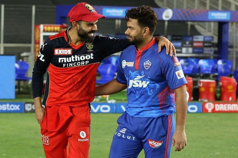 Virat Kohli (left) and Rishabh Pant (right). Pic: IPLT20.COM