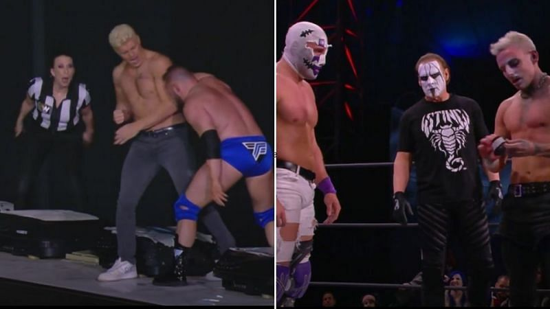 Darby Allin faced 10 in the main event