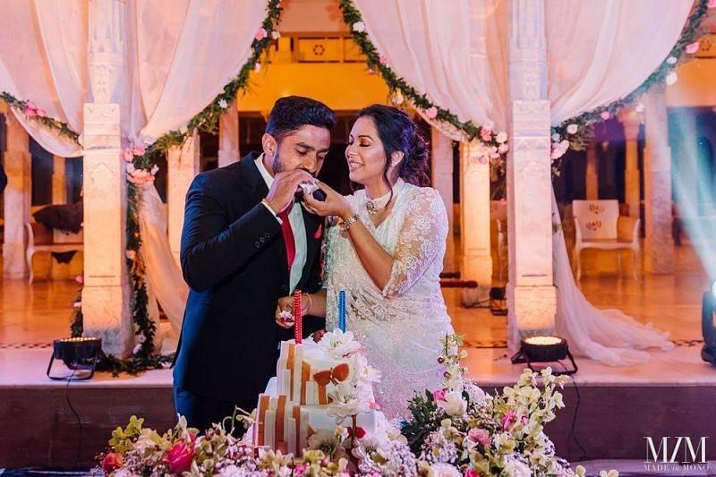 Sanaya Tankariwala's Marriage pics with Karun Nair