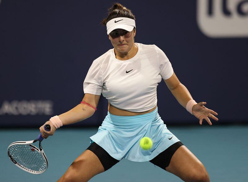 Bianca Andreescu at the 2021 Miami Open