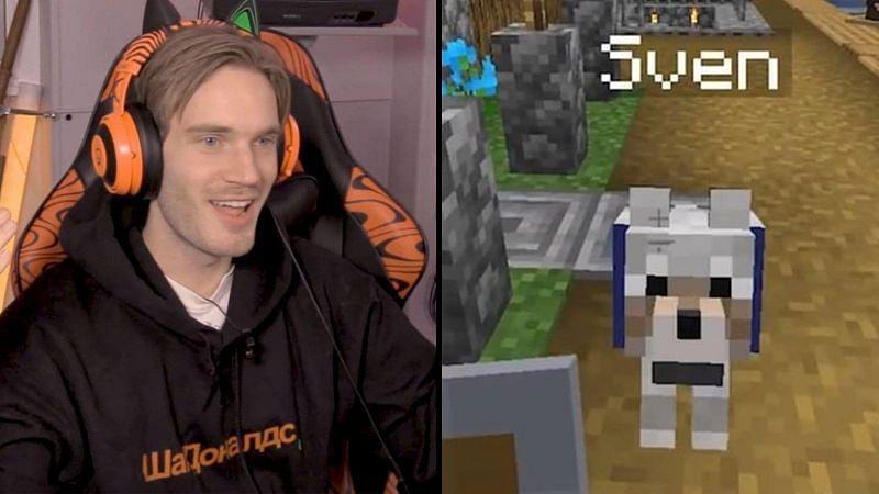 """He needs a name... Sven!"" (Image via PewDiePie on YouTube)"