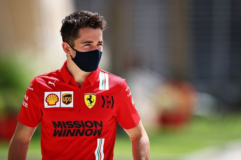 Charles Leclerc is maintaining a positive outlook on the situation at Ferrari. Photo: Mark Thompson/Getty Images.
