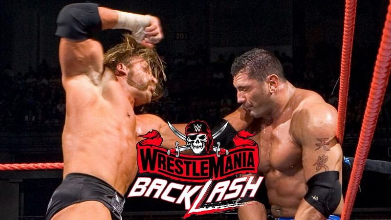 Batista defended the WWE World Heavyweight Championship against Triple H in a WrestleMania 21 rematch at Backlash 2005