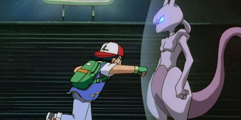 Ash Ketchum and Mewtwo (Image via The Pokemon Company)