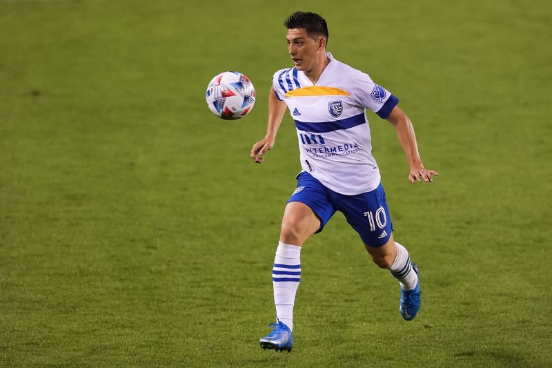 Cristian Espinoza will be in action for SJ Earthquakes against D.C. United