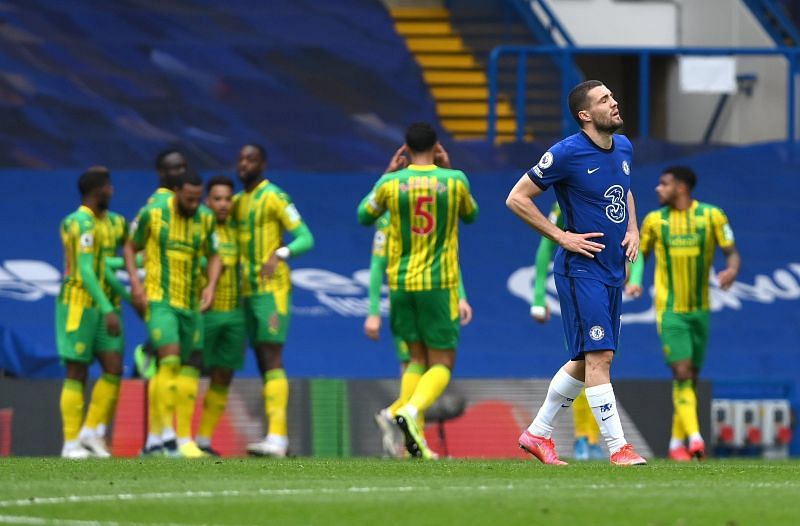 Chelsea were thrashed 5-2 by West Brom at Stamford Bridge.