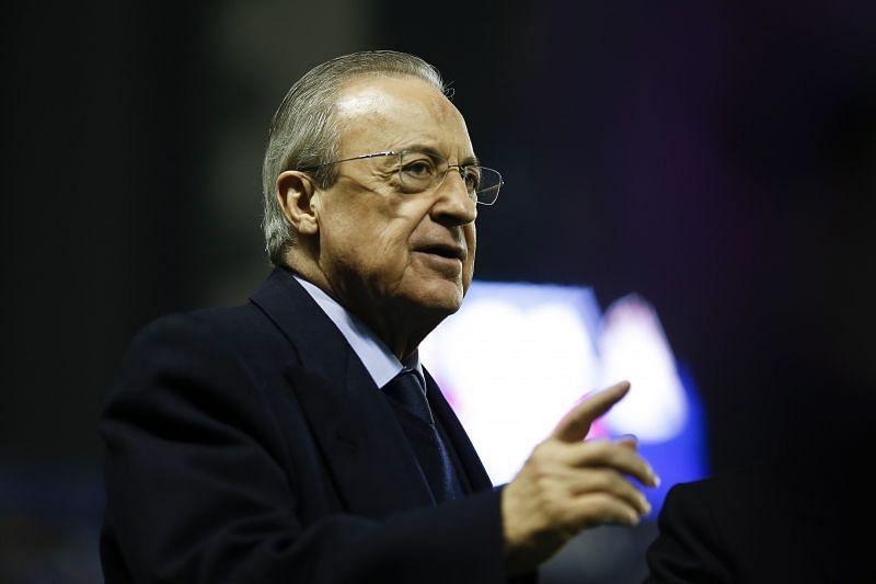 Real Madrid president Florentino Pereez