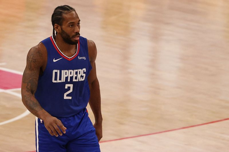 Kawhi Leonard #2 of the Los Angeles Clippers has been instrumental in helping them improve in the second half of the campaign.