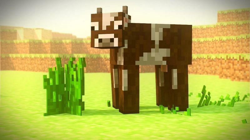Cow on a farm (Image via planetminecraft)