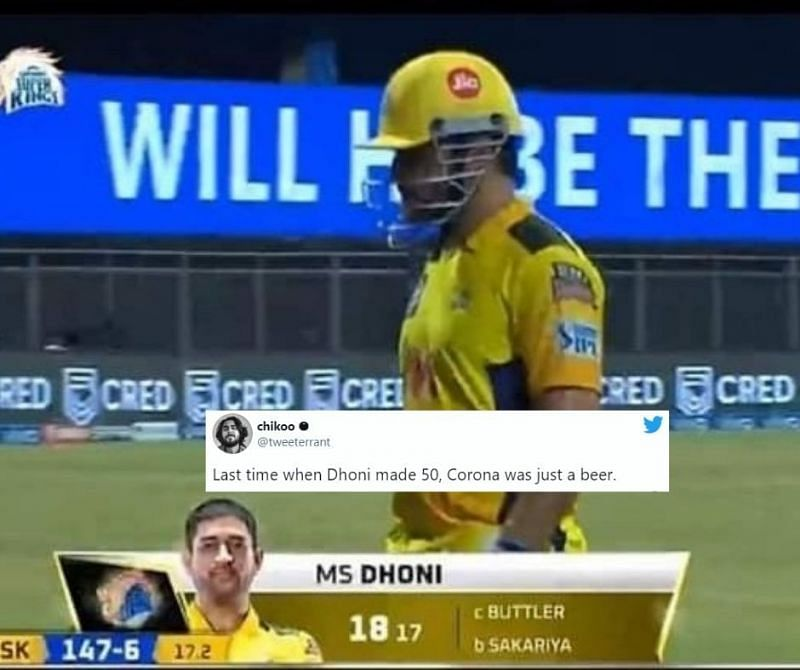 MS Dhoni failed to give CSK