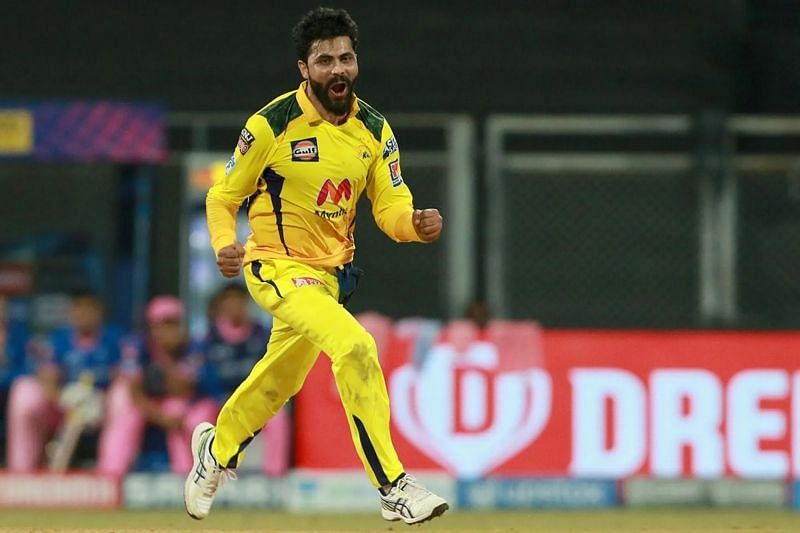 Ravindra Jadeja cleaned up Jos Buttler with a beauty in match 12 of IPL 2021. Pic: IPLT20.COM