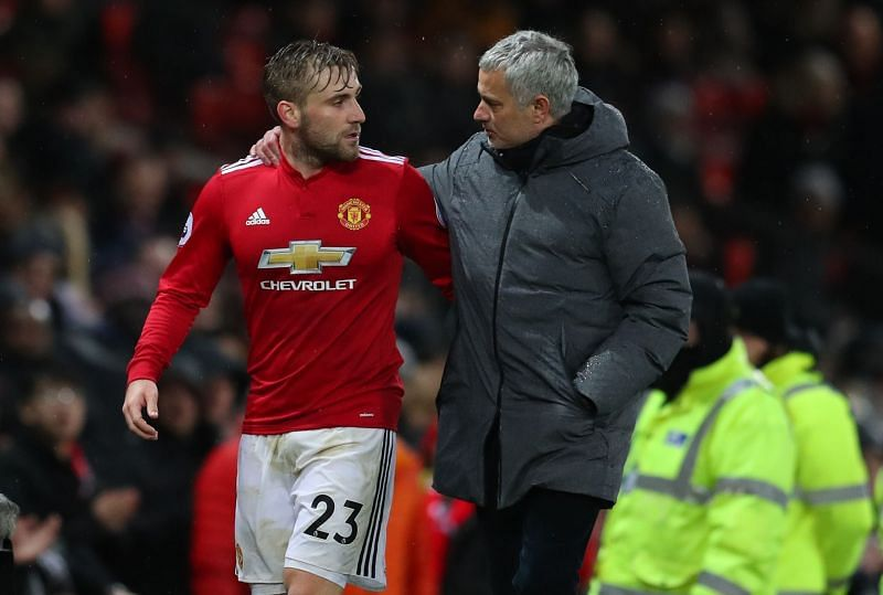 Luke Shaw (left) and Jose Mourinho did not enjoy a good relationship.