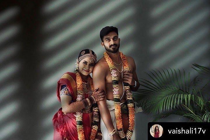 Vijay Shankar's Wedding Photos with wife Vaishali Visweswaran