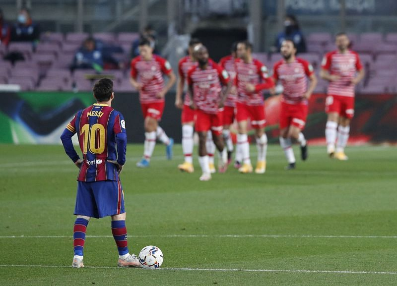 Granada beat Barcelona at the Camp Nou for the first time ever.