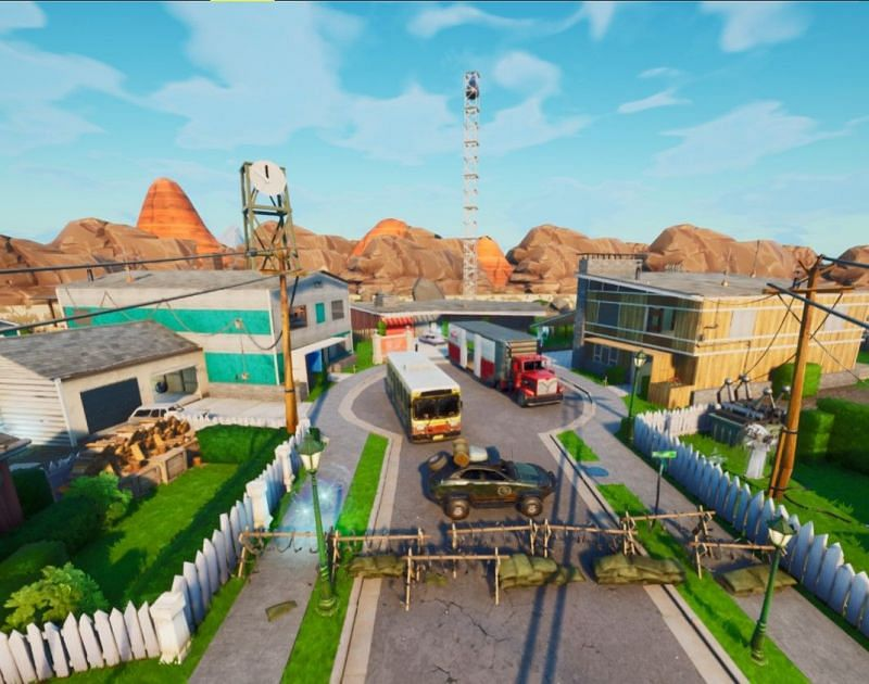 The Nuketown Gun Game Fortnite map (Image via Epic Games)