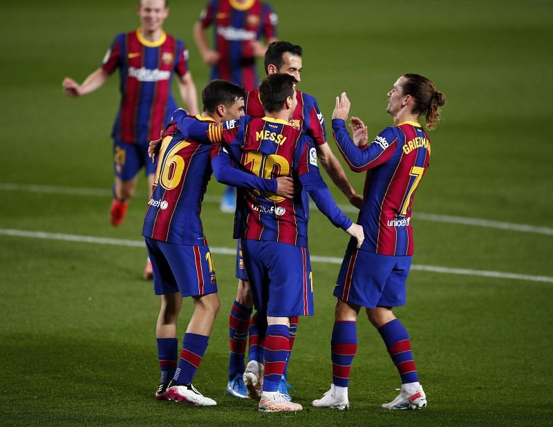 Barcelona won 5-2 against Getafe. (Photo by Eric Alonso/Getty Images)