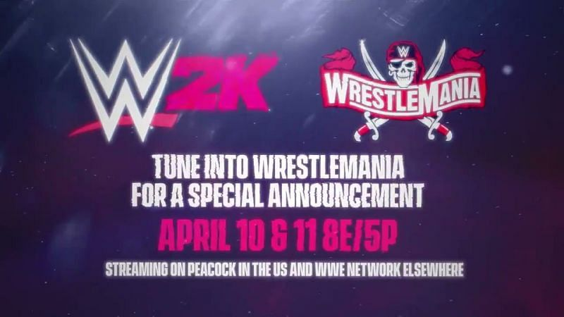 What will WWE 2K announce during WrestleMania?